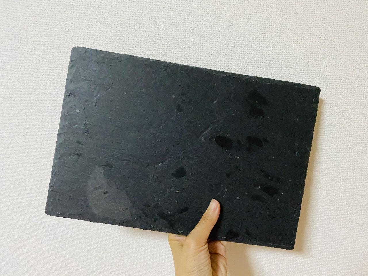 【ダイソー】料理が映える!黒い天然石で作られた《スレートプレート》が超使える♡_1