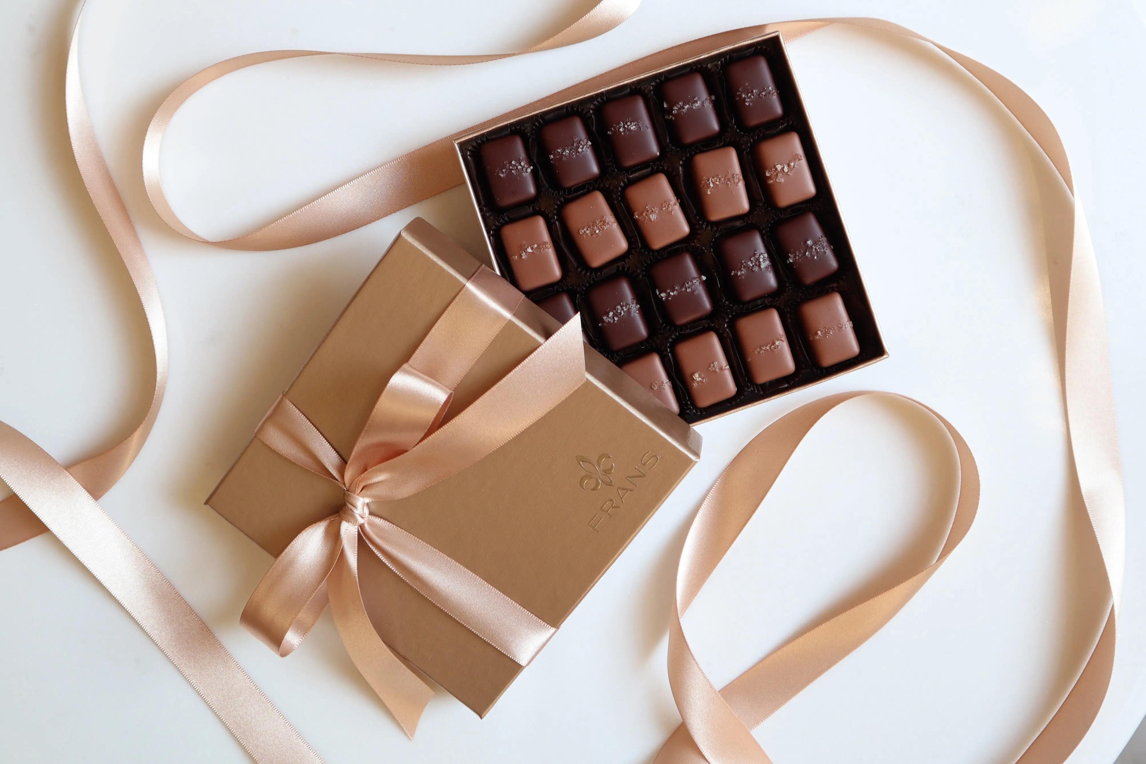 2021バレンタインで発売するフランズ チョコレートのソルトキャラメル