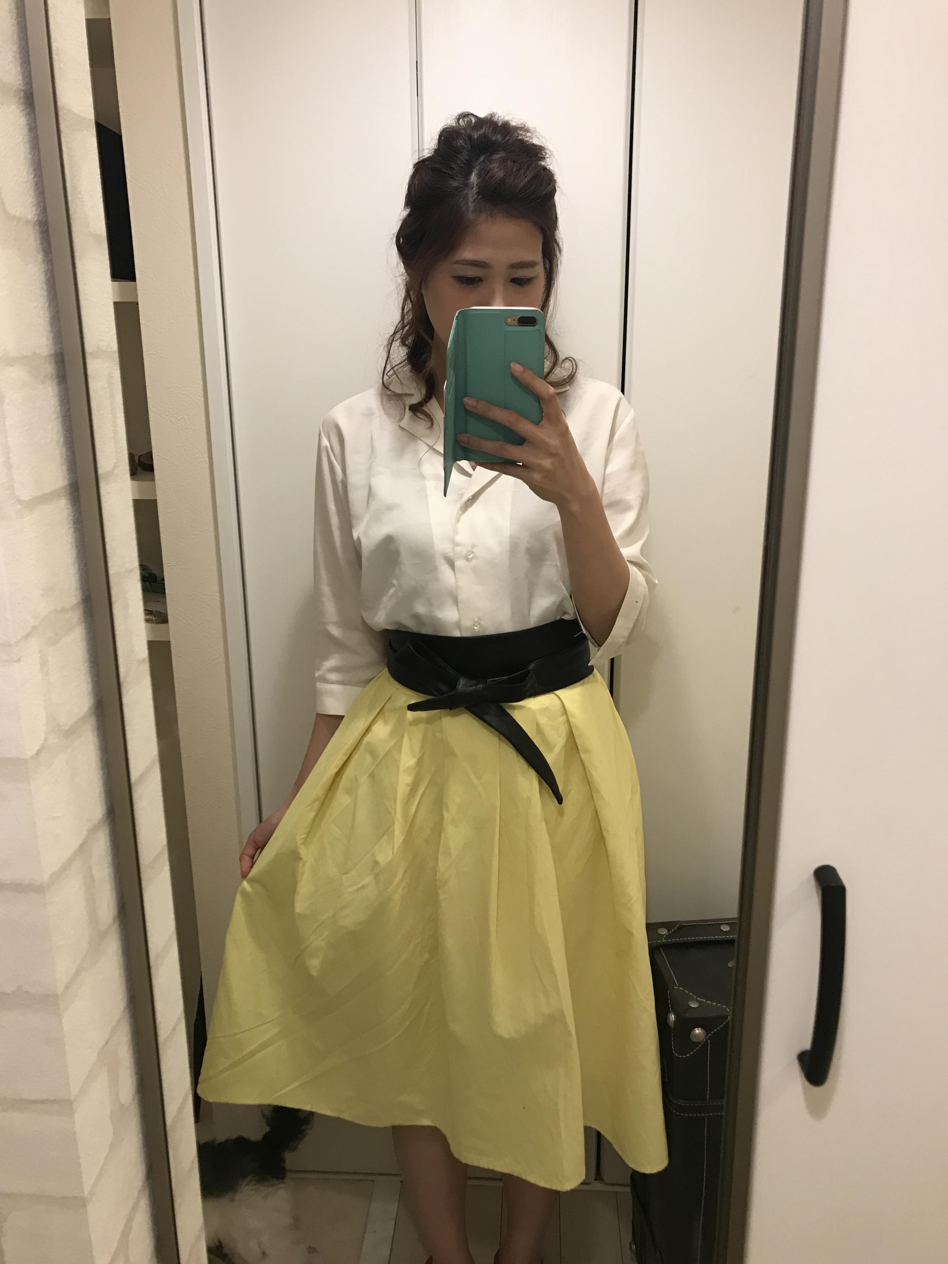 guのカラースカートでトレンドも着痩せも叶えるプチプラコーディネート♡_1