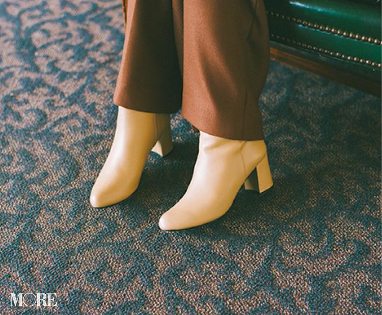 """「パンツ×ブーツも似合うと知った。ライバルが近くにいることも知った」鈴木友菜主演【通勤の足もと""""いつも黒""""から脱出着回し14日目】_2"""