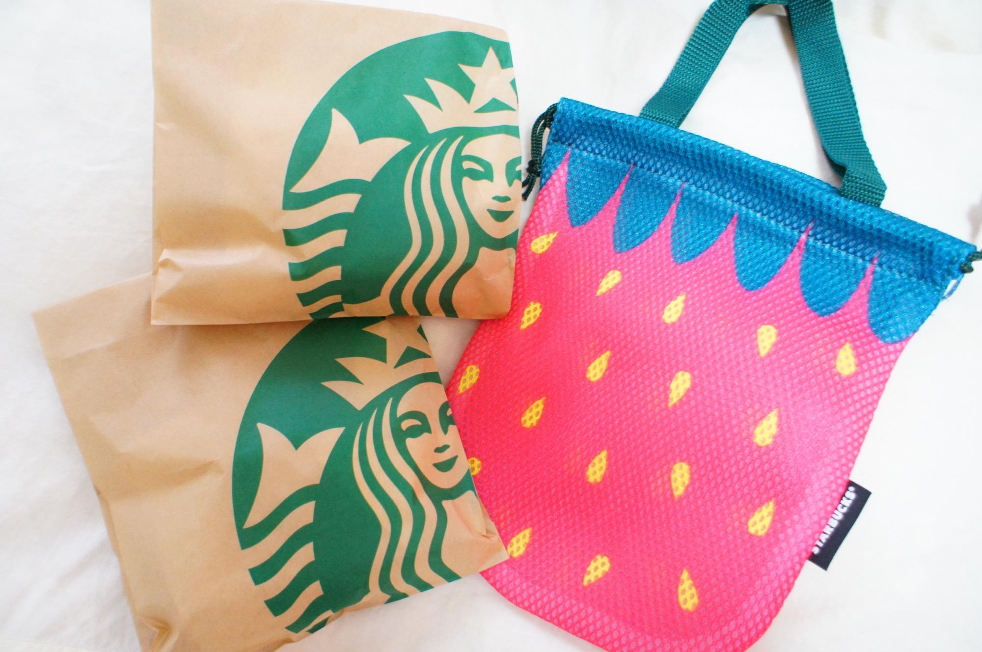 《数量限定❤️》【スタバ】対象フードをふたご買いすると買えるいちごバッグが可愛い☻_3