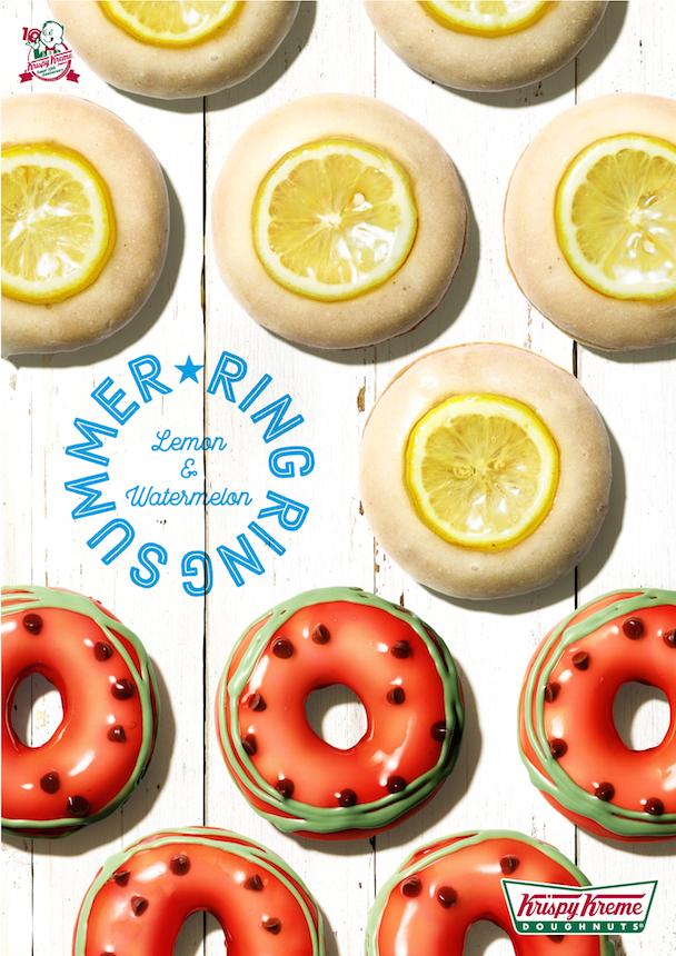 スイカ&レモンがドーナツに変身! 『クリスピー・クリーム・ドーナツ』のポップなフルーツドーナツ_1