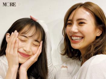 土屋巴瑞季と井桁弘恵♡ 可愛くて美しい2人が、はじめましてのご挨拶【モデルのオフショット】