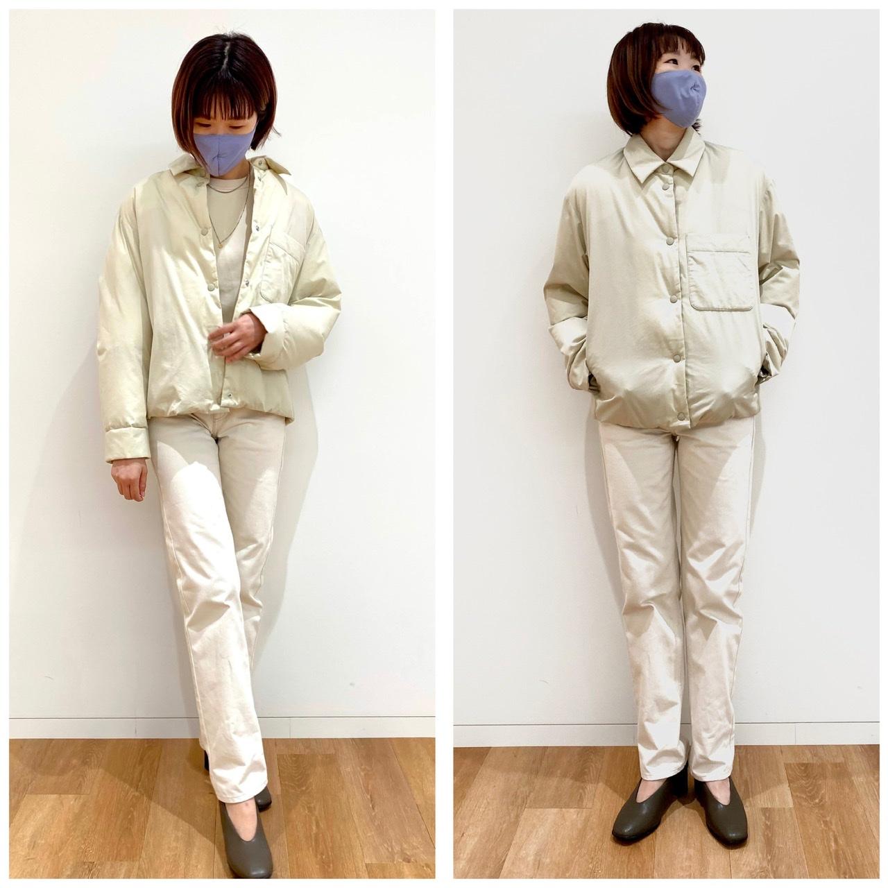ユニクロユーのパデットシャツジャケットを試着