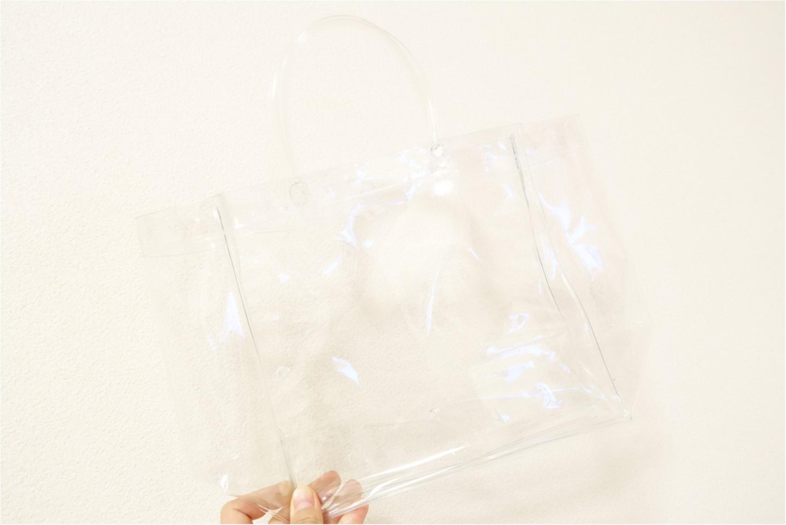 ★流行りのクリアバッグは【DAISO】でget!お洒落に見える一工夫をすれば高見え効果も!_1