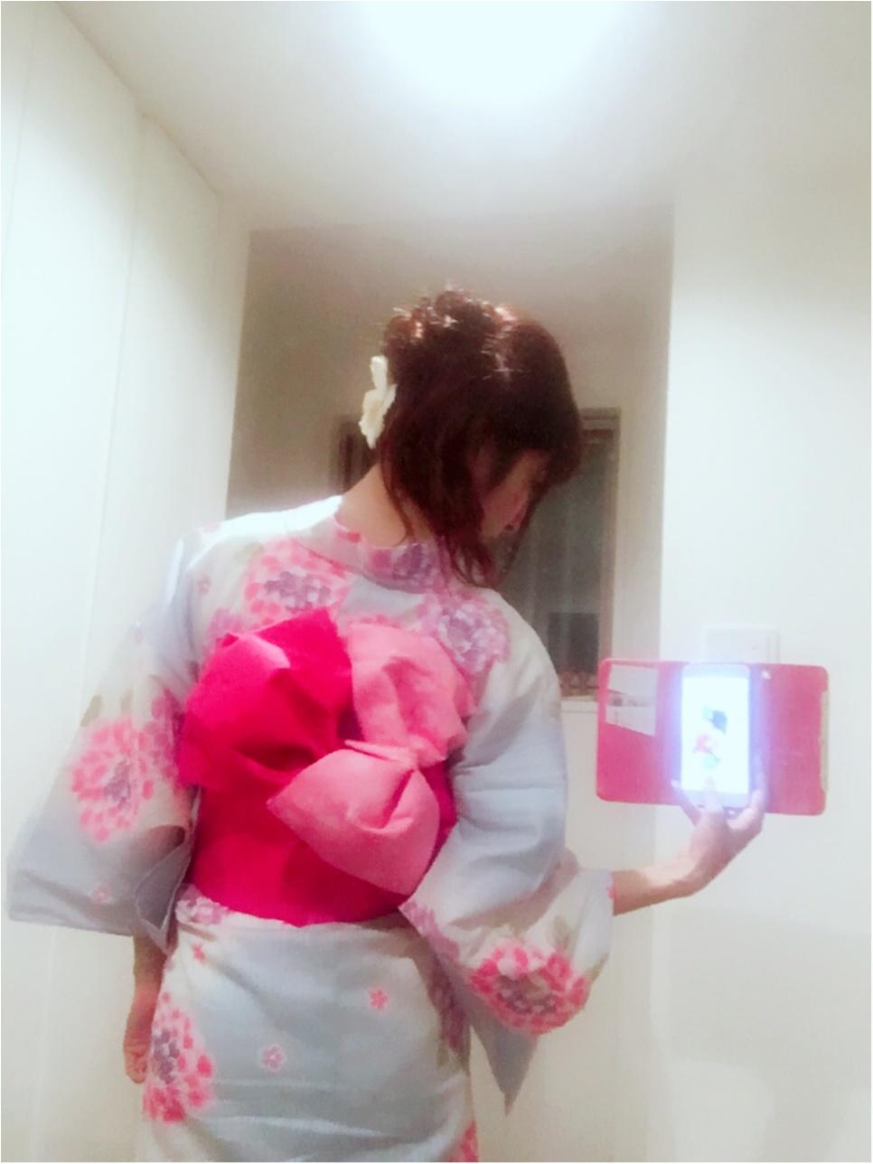 ♡今年の浴衣は【水色ベース×帯2枚使い】人と被らないアレンジ♡モアハピ◡̈のぞみ♡_19