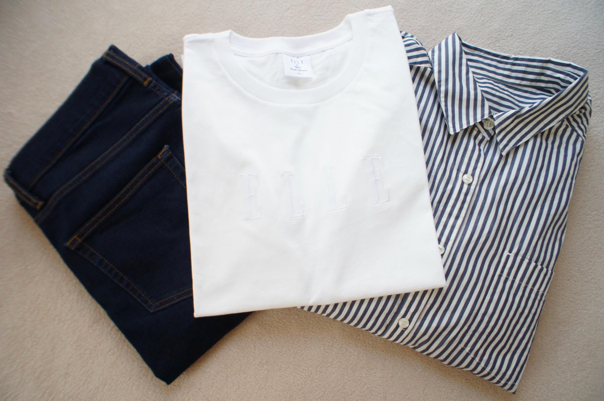 《一瞬で売り切れた!❤️》話題の【GU × ELLE】コラボTシャツを奇跡的にgetしました☻_3