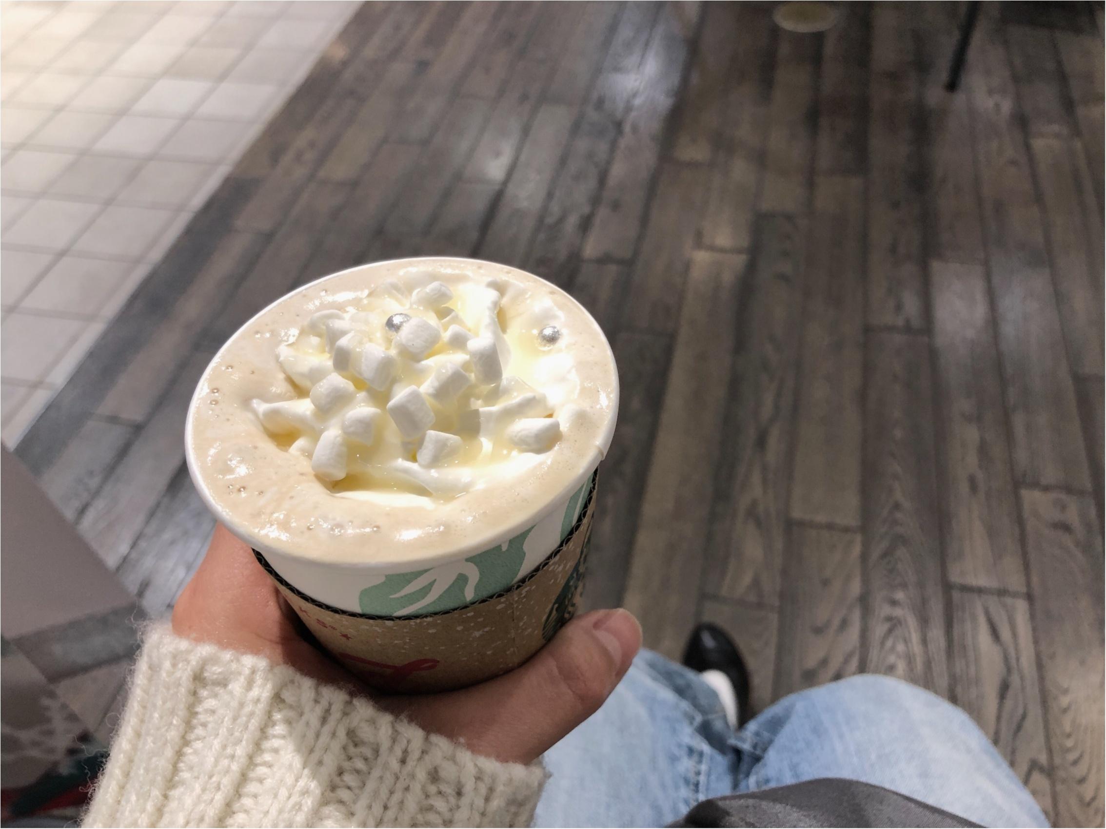 《スタバ》ホワイトチョコレートスノーを飲みました!オススメのカスタマイズはもちろんこれ♡_2