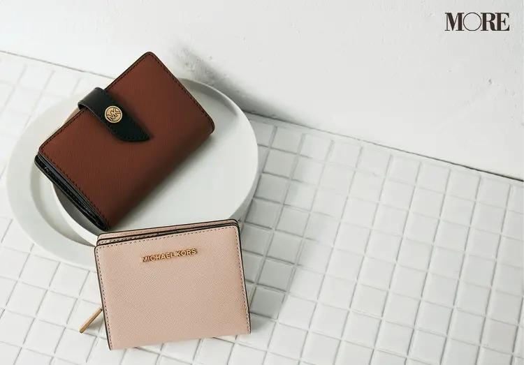 マイケルコースの二つ折り財布、ジップ財布