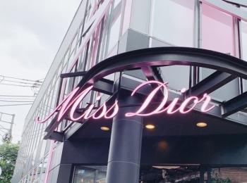 表参道「MISS DIOR LOVE N'ROSES ミス ディオール展覧会」♡