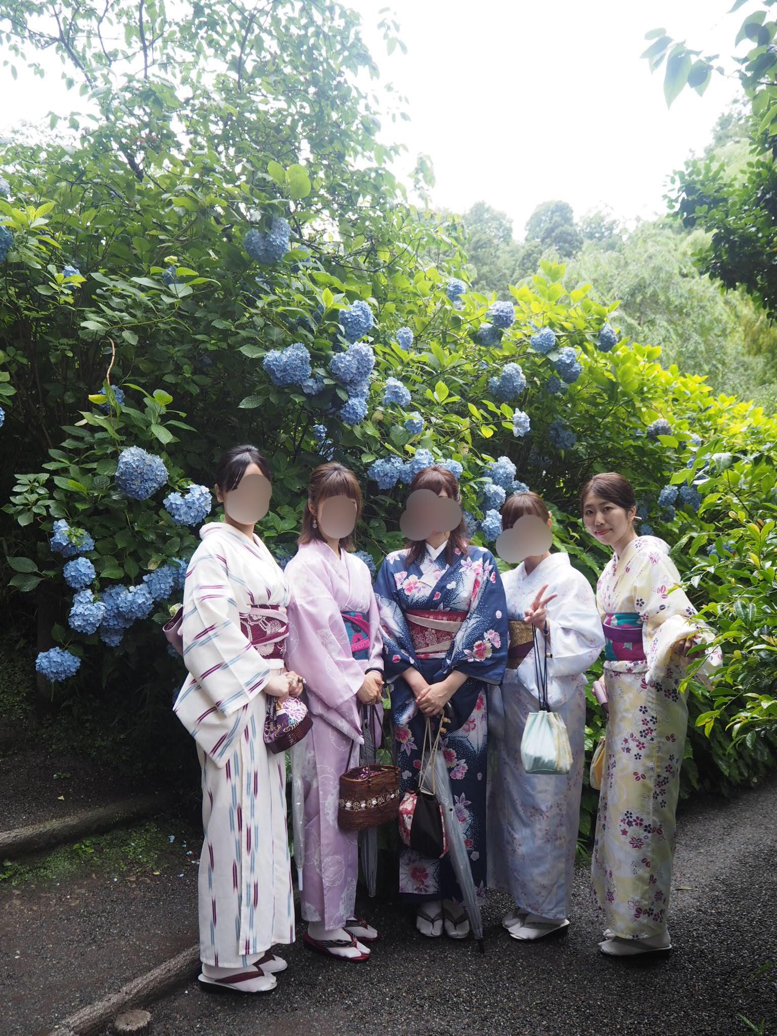 夏着物で鎌倉女子旅♡  紫陽花がとっても綺麗でした♡_11