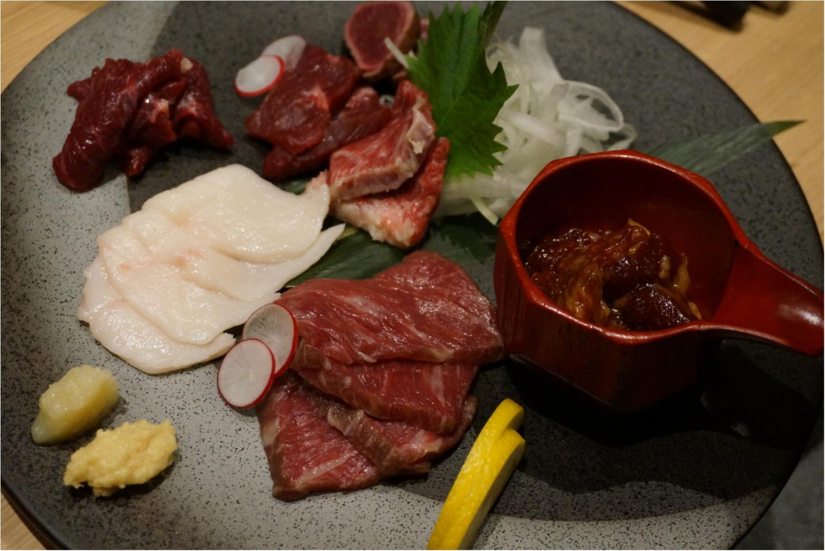 【モアハピ女子会♪】肉をがっつり食べるなら脂肪分がわずか牛の約5分の1と言われるヘルシーで美容にもいい《馬肉》はいかが(◍ ´꒳` ◍)b?_6