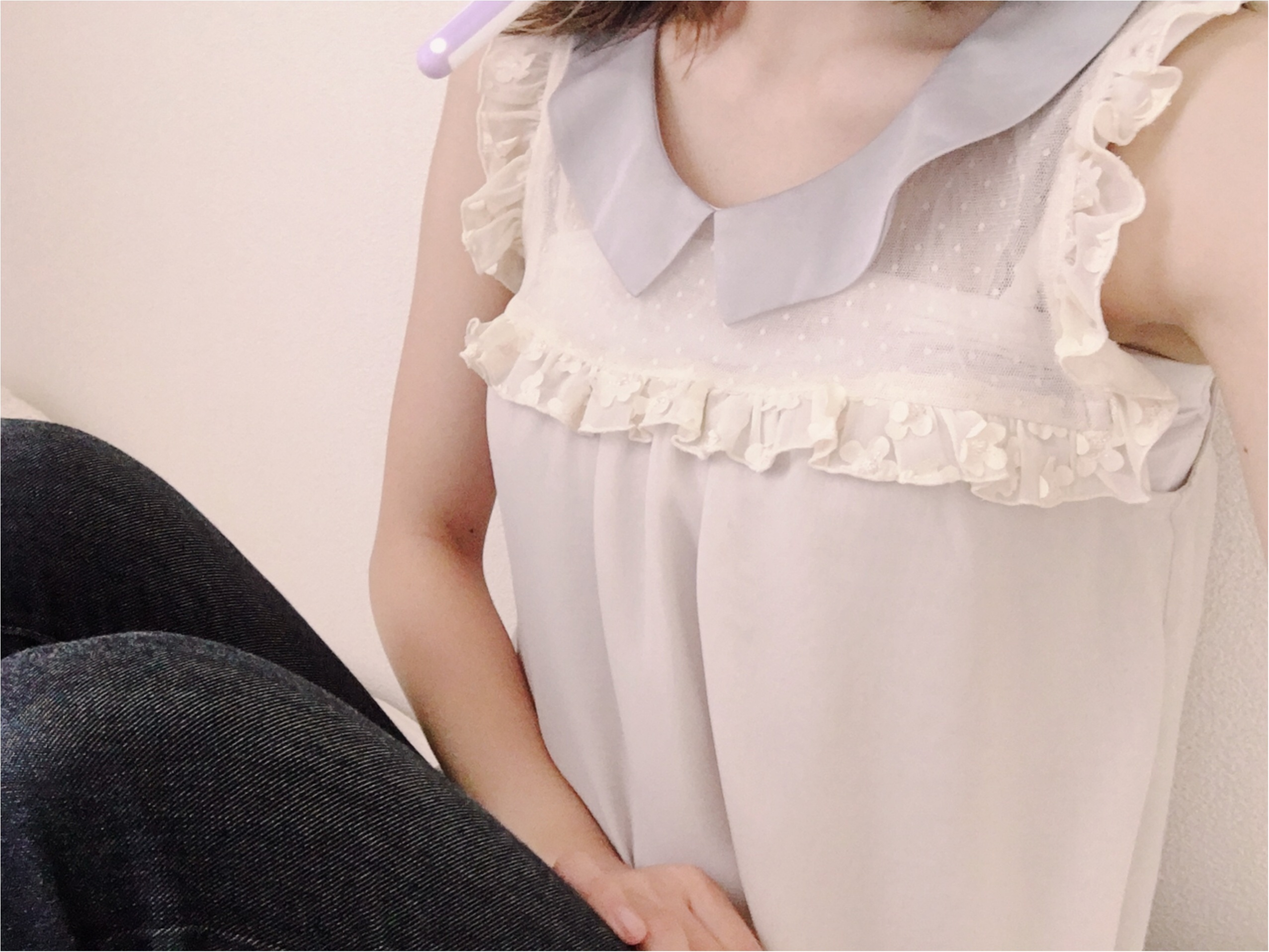 ★《flower》トップス×《UNIQLO》デニム=きれいめカジュアル♡♡_1