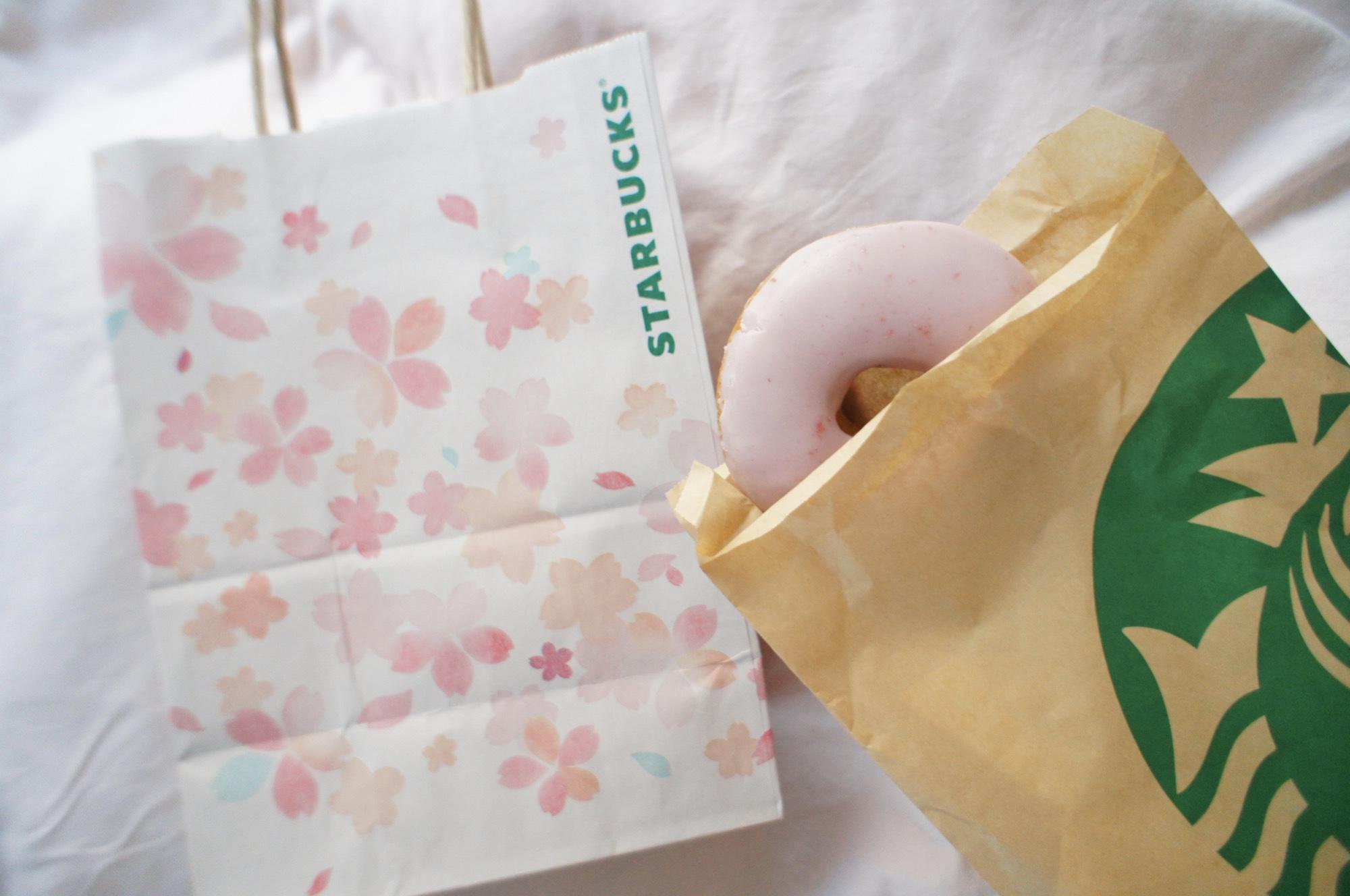 《レジ横foodに注目❤️》フードも春メニューに!【スタバ】さくらドーナツが美味しい!☻_1