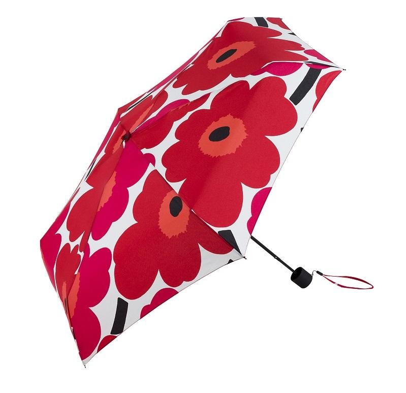 マリメッコの花柄折りたたみ傘