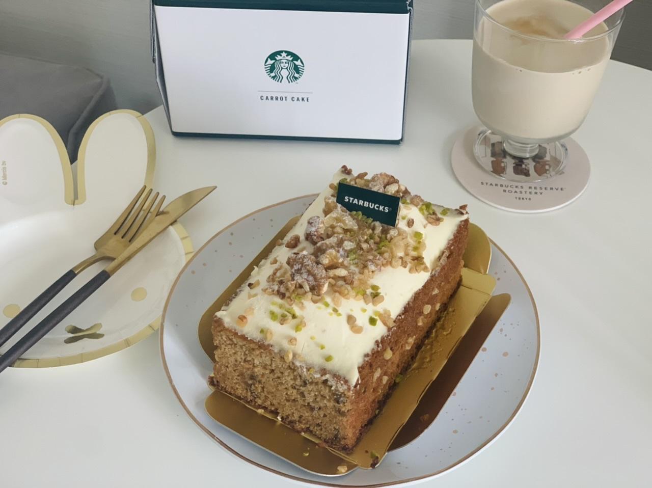 """【スタバ】数量限定!オンラインショップ初のケーキは""""コーヒーの豆かす""""を活用したキャロットケーキ_1"""