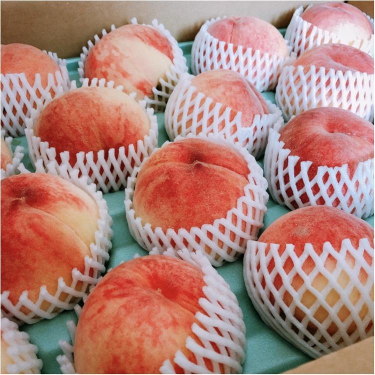 ふるさと納税のお礼品。旬の桃がこんなに…幸せー!!_1
