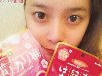 【お気に入りのおやつを教えて!】岸本セシルちゃんは、昔からついつい買っちゃう梅味のお菓子。