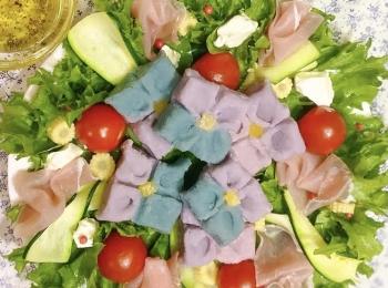 【レシピ】紫陽花ポテトのパワーサラダ