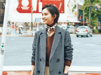 【今日のコーデ】コート×スカーフ。大人のパンツスタイルによく似合うチェックのチェスターコートで差をつけて!