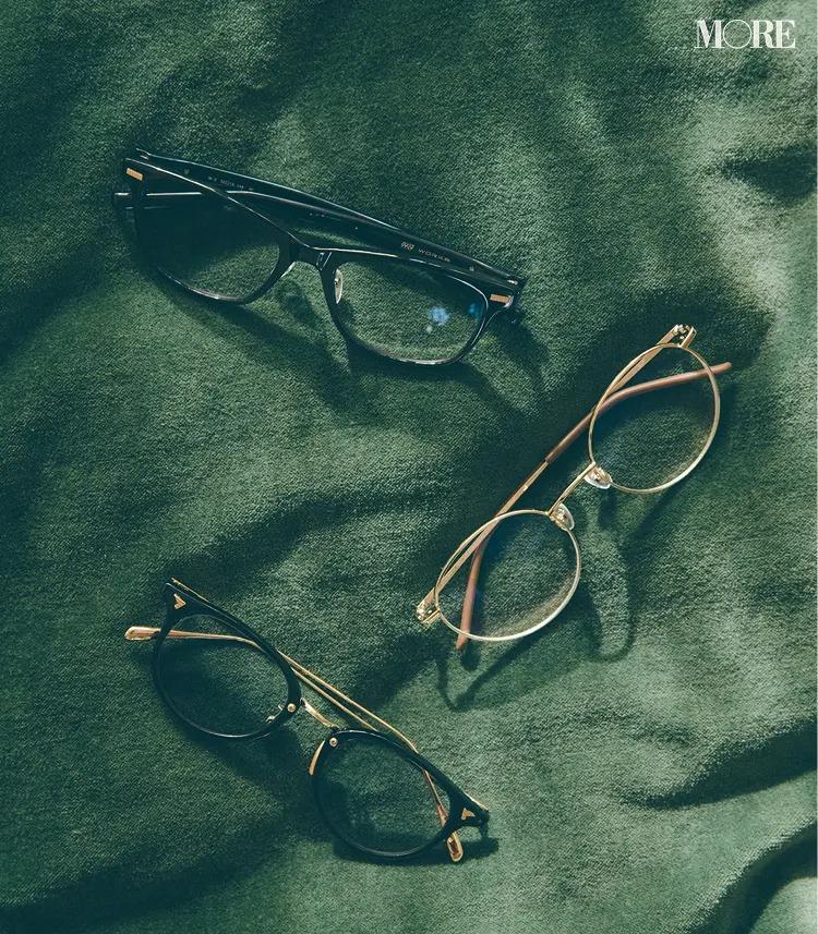 ワークとZoffとビージェイクラシックコレクションのメガネ