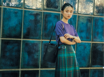 【今日のコーデ】<鈴木友菜>同窓会コーデはチェック柄プリーツスカートで鮮度高く♪