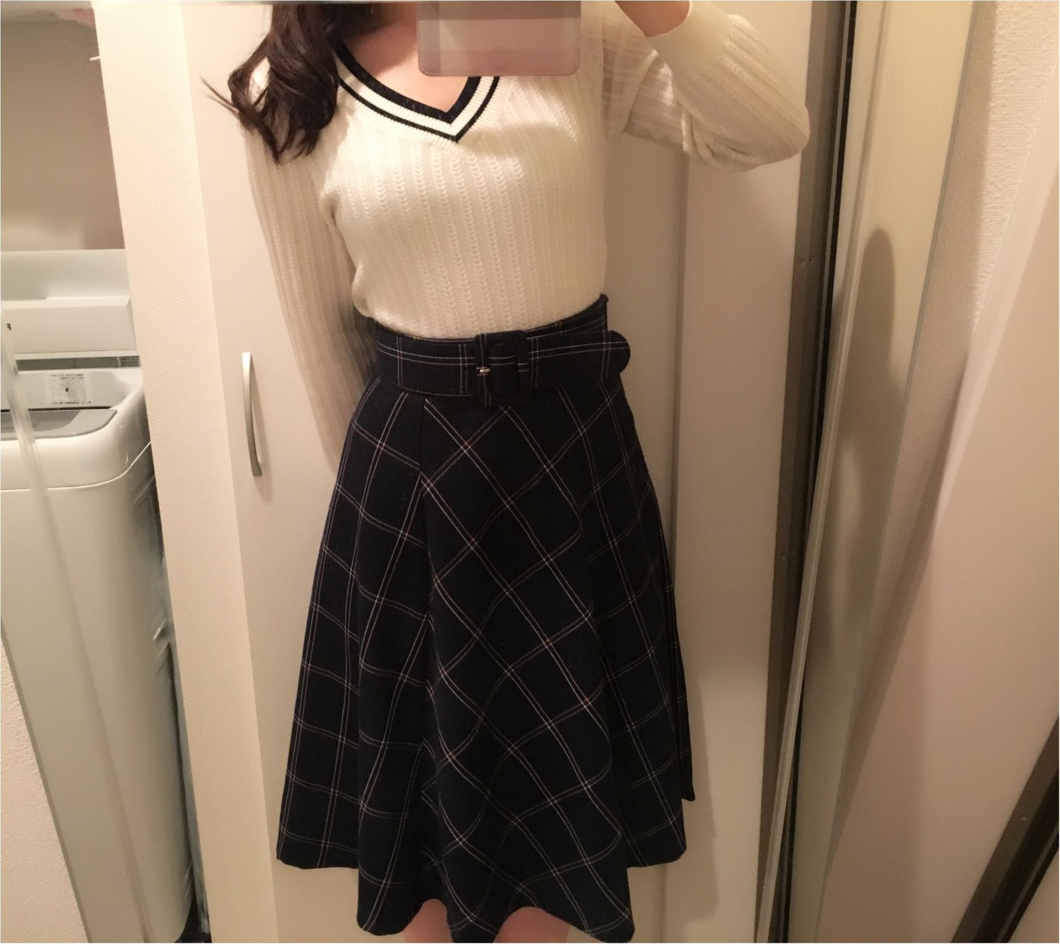今年の流行!♥ミディ丈スカートで作る♡通勤コーデ4選(っ´ω`c)♡_9