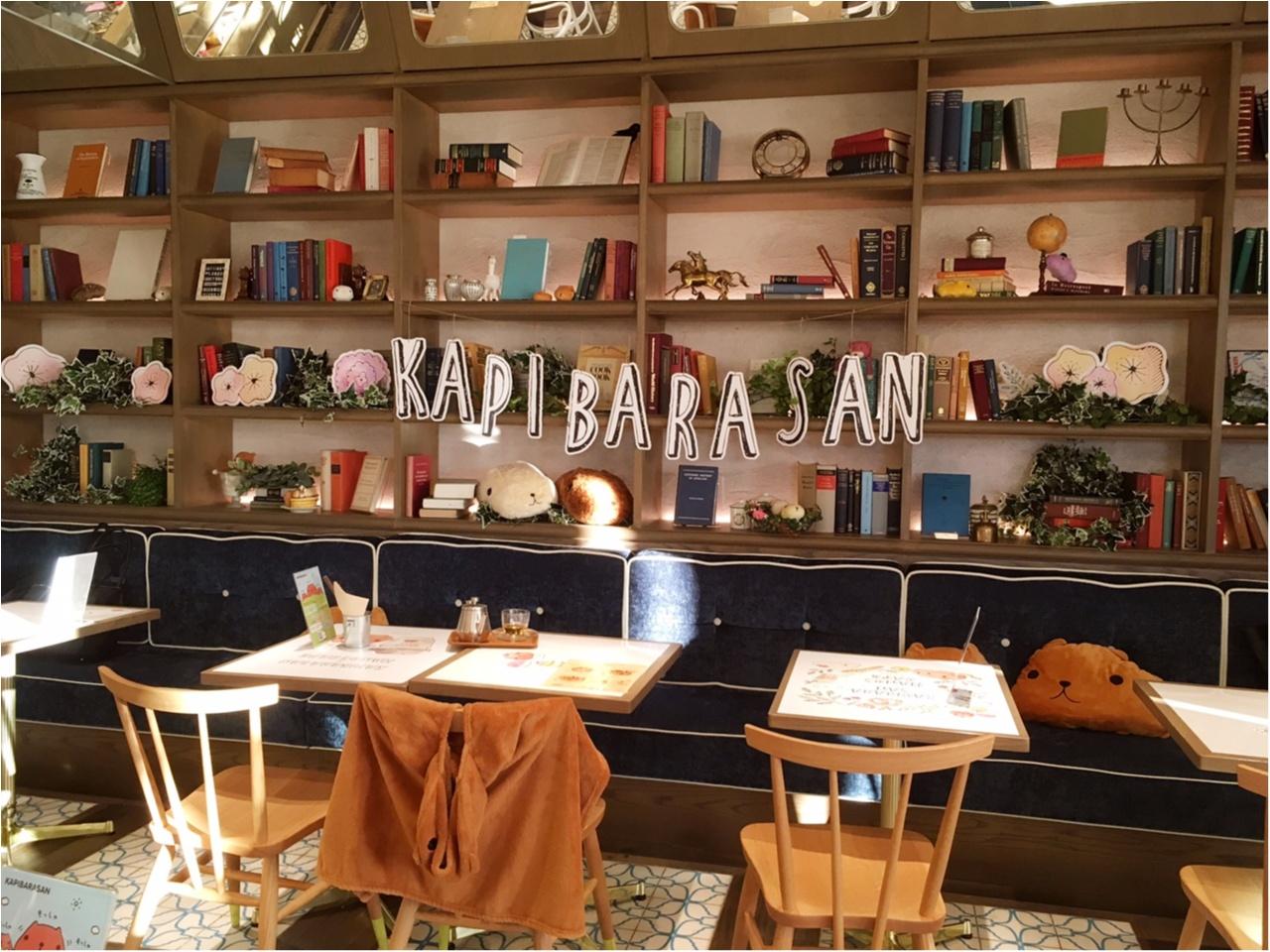 """""""大人カピバラさん""""がテーマの『KAPIBARASAN×HANDS CAFE』 に行ってきました♡_3"""