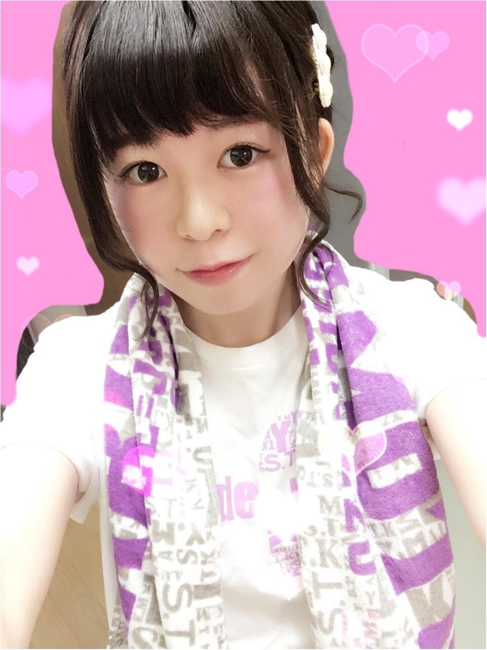 ライブのヘアスタイルは崩れにくい編み込みまとめヘアで(*´ ˘ `*)♡_1