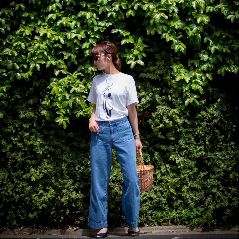 Championのお気に入りのTシャツはシンプルに着こなす。デニムコーデ_3
