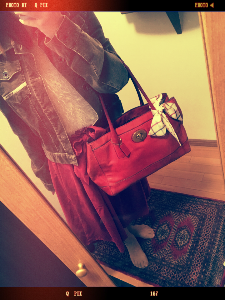 【ファッション】赤deおでかけ秋コーデ_4