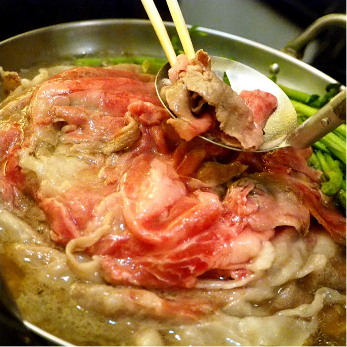 暑い夏こそ食べなきゃ♡塩すき鍋は特製の氷ダレをのせてさっぱりとした味わい_6