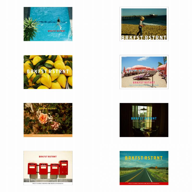 "『KIOSK ""BREAKFAST RESTRANT""』で販売するポストカードの画像"