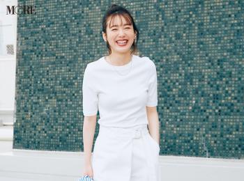 【今日のコーデ】<飯豊まりえ>夏日は迷わず白Tシャツ!オールホワイトコーデでカッコいい女に