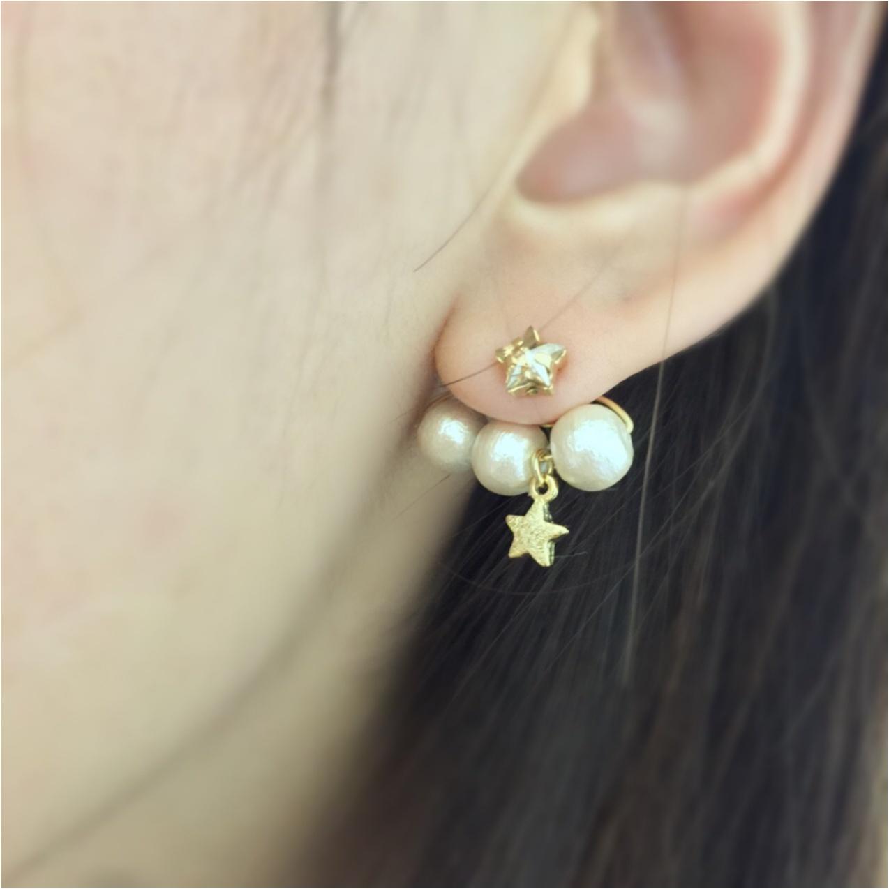 ぴったりサイズが作れるのがハンドメイドの魅力❤︎コットンパールのイヤーラップチャームで耳周りを華やかに_2