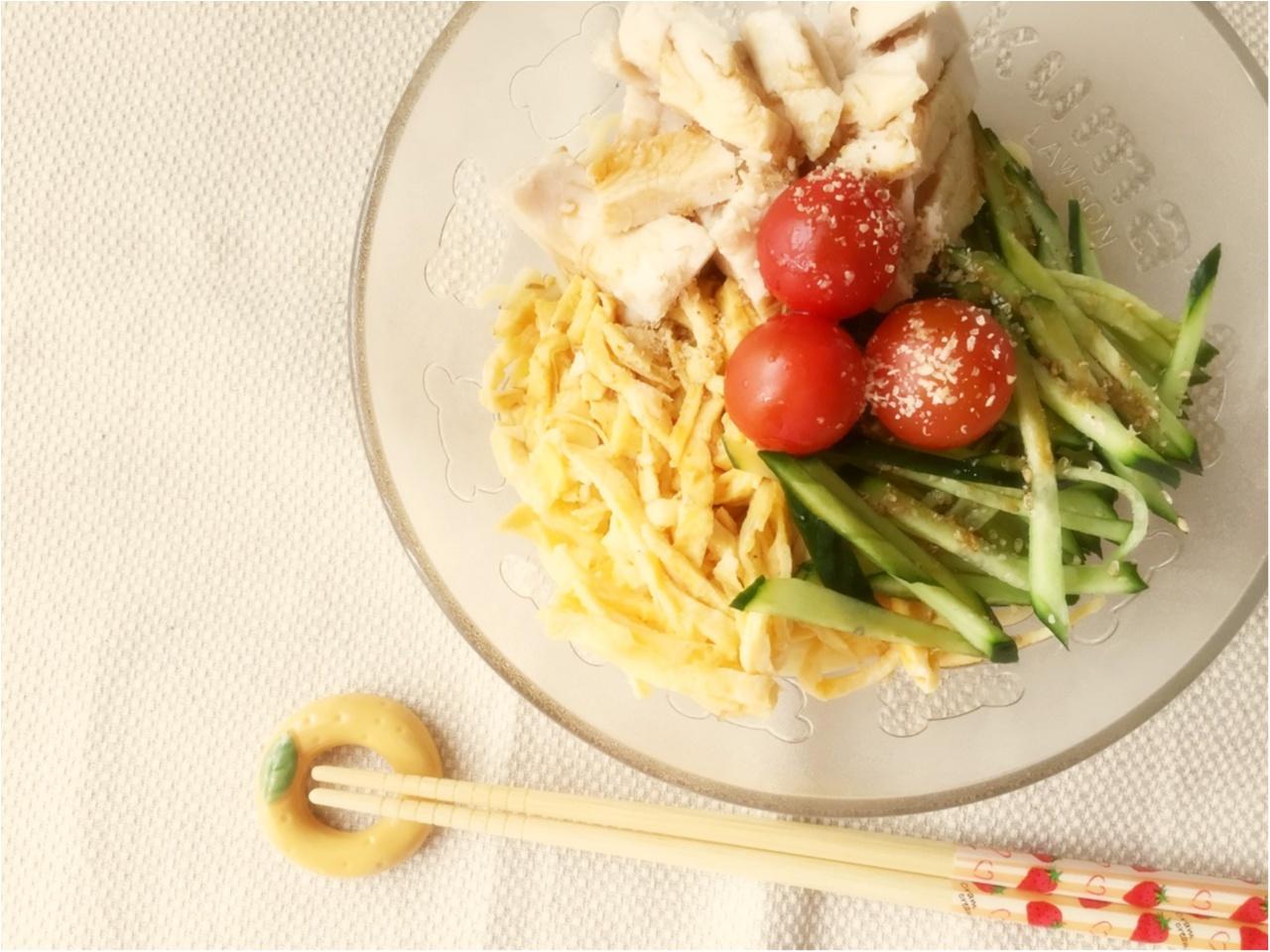 糖質ゼロ麺で、冷やし中華始めました♡*_2