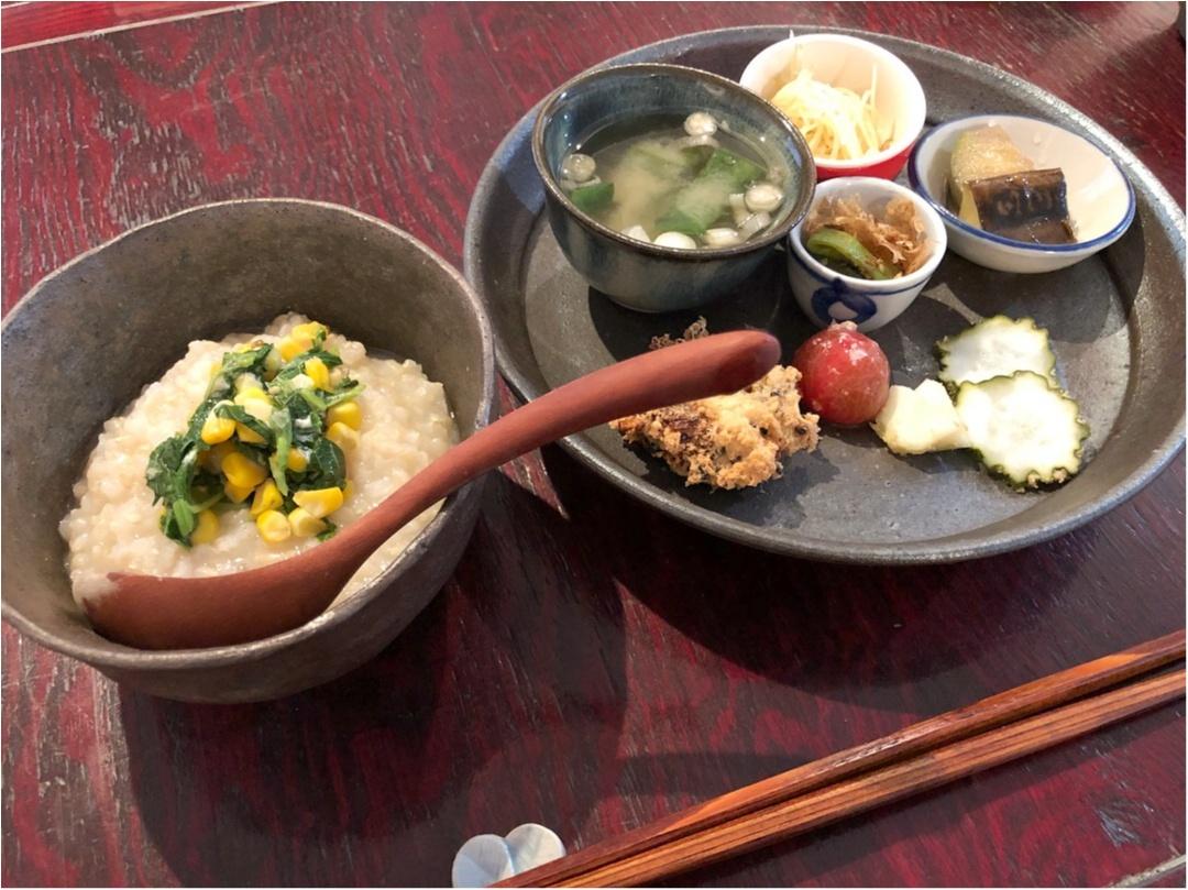 【 朝食 】体に優しくて美味しい♡ おかゆモーニングで体も心もほっこり♡♡_3