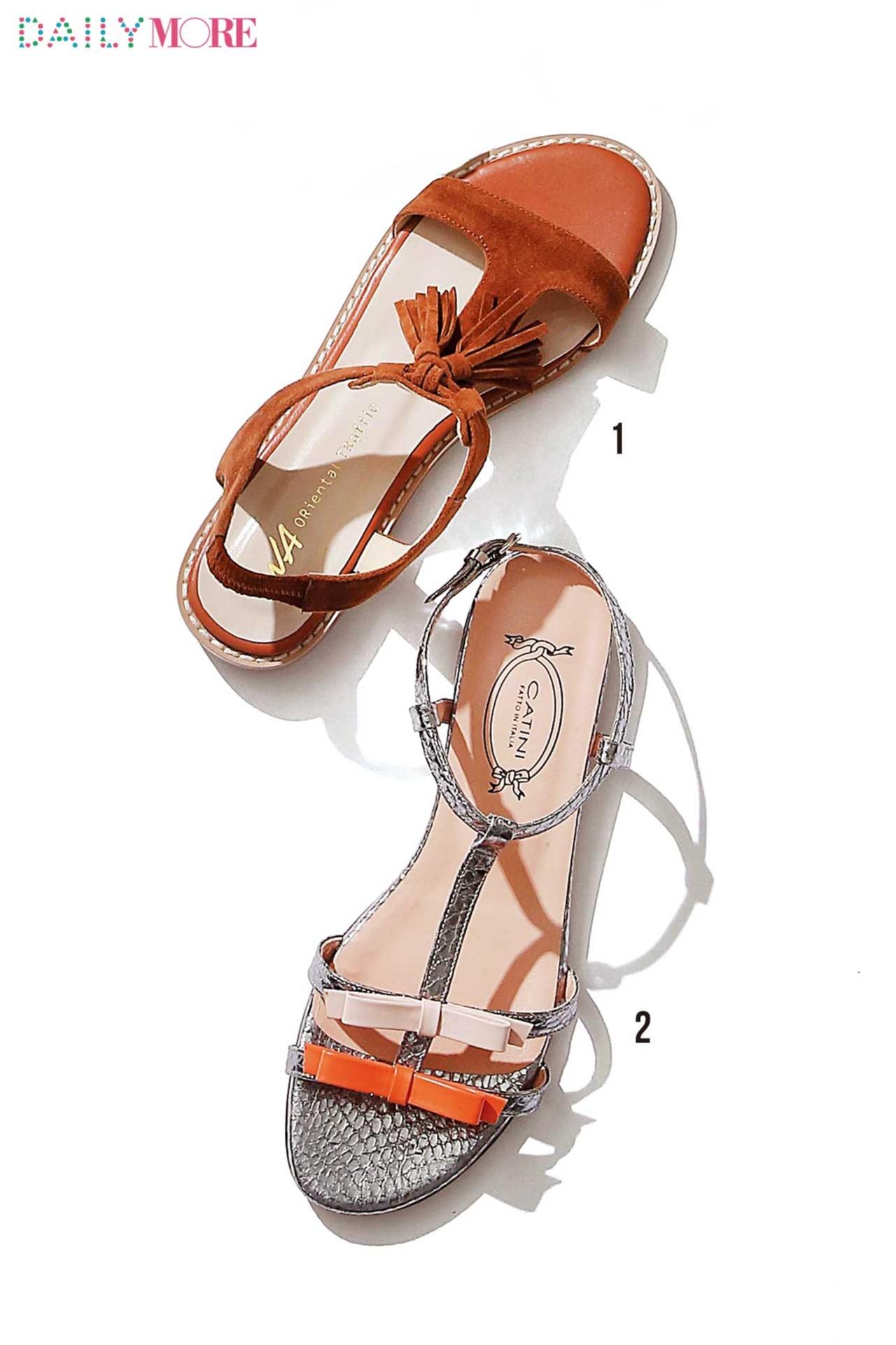 """女っぽさもこなれ感も! around27歳のためのフラット靴は""""アンクルストラップ""""と""""太ベルト""""に決定_2"""
