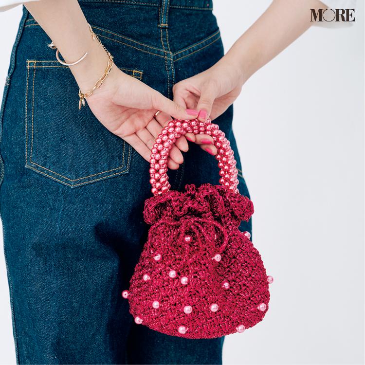 スリョのピンクのビーズバッグ