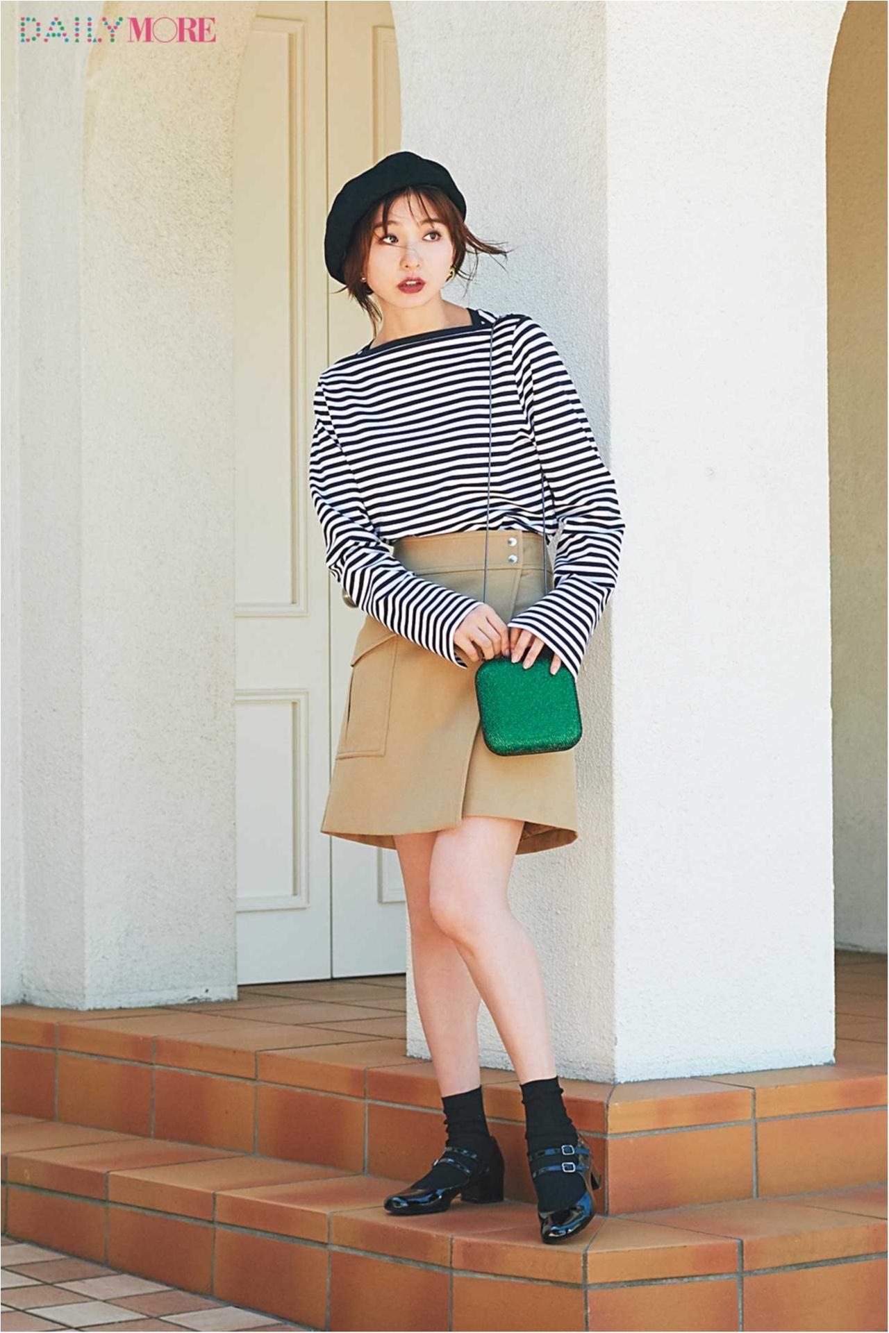 【今日のコーデ/篠田麻里子】フレンチムードの着こなしに、クラシカルなストラップ靴がお似合い♡_1