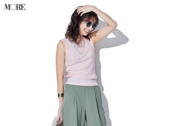 【今日のコーデ】<土屋巴瑞季>色でマンネリ打破!ピンクとカーキなら理想の甘辛バランスに