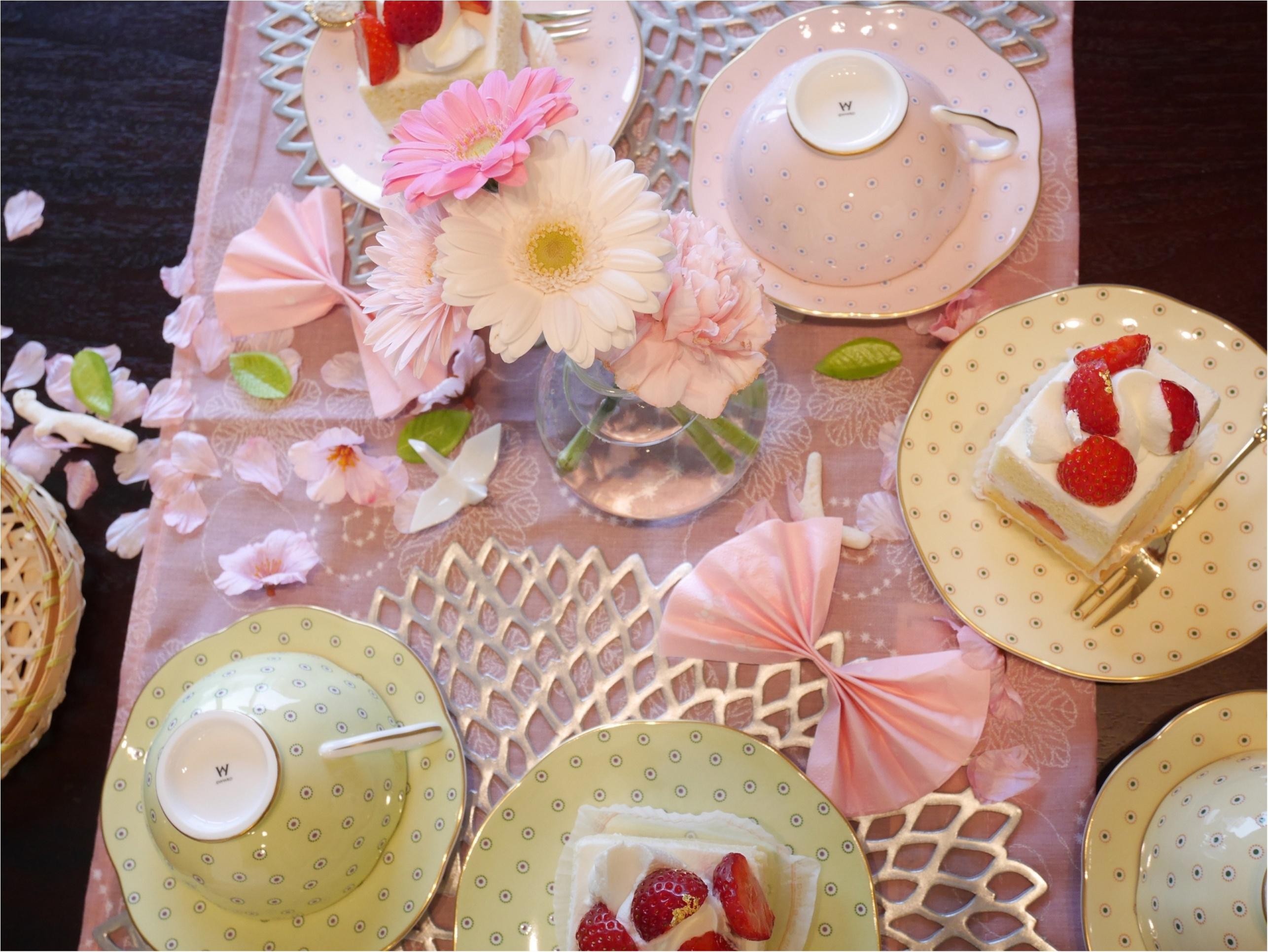 春はスグそこ!「ピンクで華やかにテーブルコーディネートして、手づくりご飯をお家で・・」_4