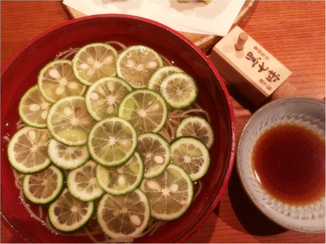 夏と言ったら!『土山人』で食べる!【夏季限定】冷やかけすだち蕎麦♡*_2