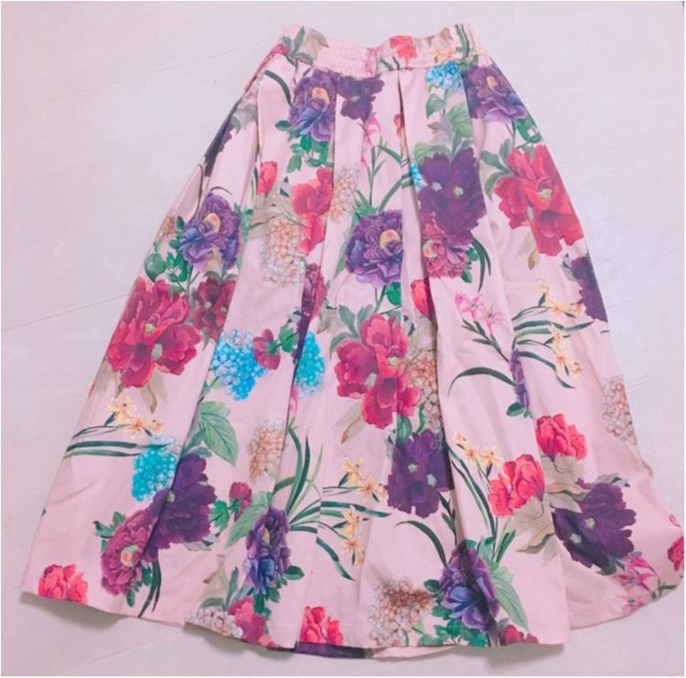 《いま、ザラ(ZARA)女が増えているっ♡!》今年初の春物は売り切れ続出のお花咲きめくミモレスカート♡!_1