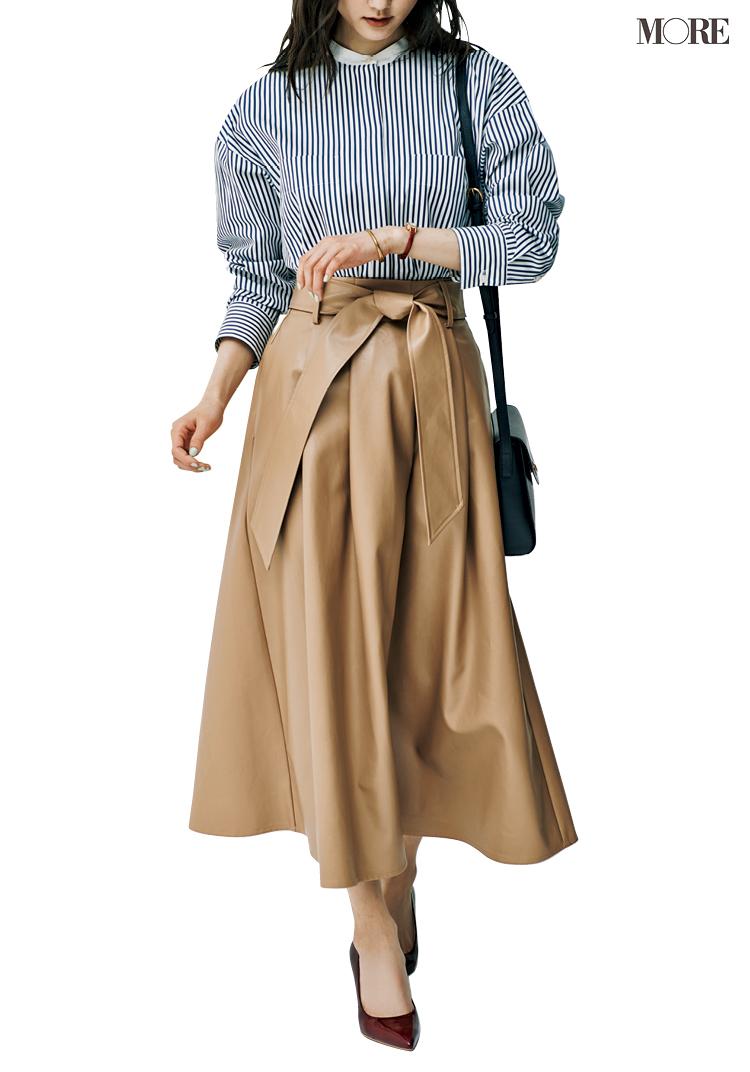 エコレザーのスカートなら家でも楽ちんで仕事にもはいていける