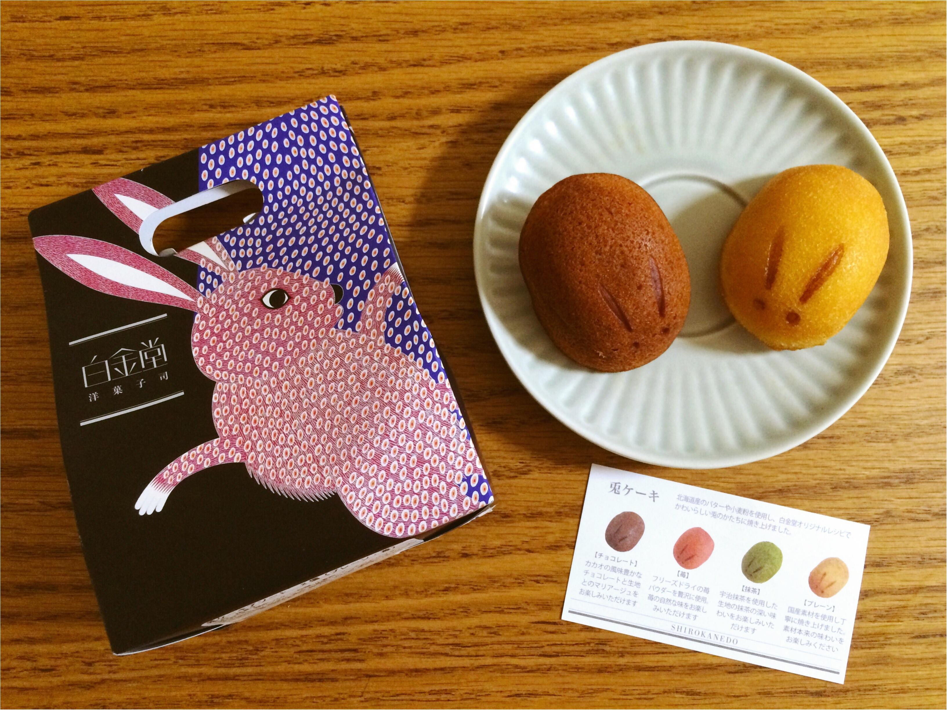 【新宿Sweets】可愛い!モチふわ美味しい!手土産に♡《白金堂》の「兎ケーキ」_1