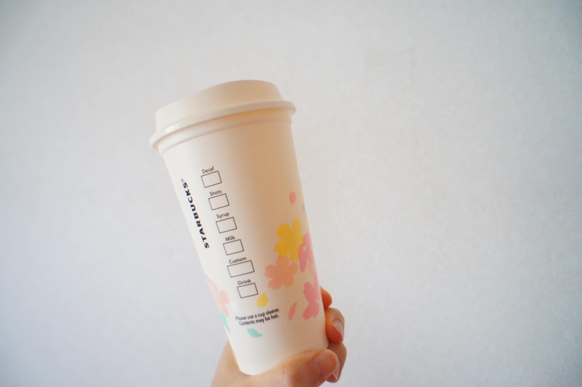 《繰り返し使える!値引もしてもらえる❤️》桜デザイン【スタバ】リユーザブルカップを買ってみました☻_4