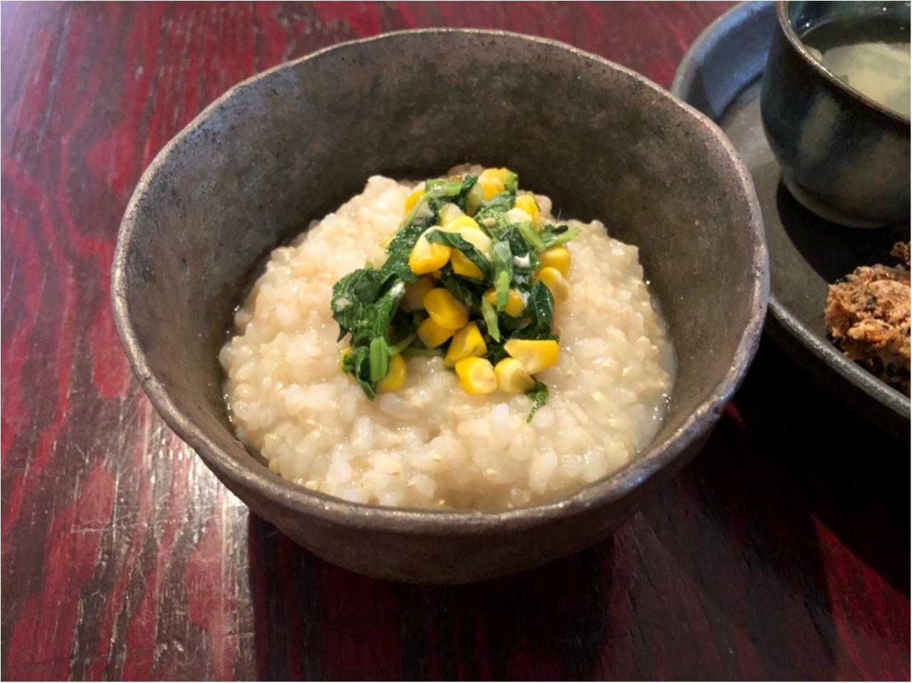 【 朝食 】体に優しくて美味しい♡ おかゆモーニングで体も心もほっこり♡♡_4