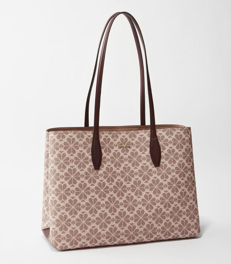 MOREプレゼントのケイトスペードニューヨークのポーチ付きピンクトートバッグ