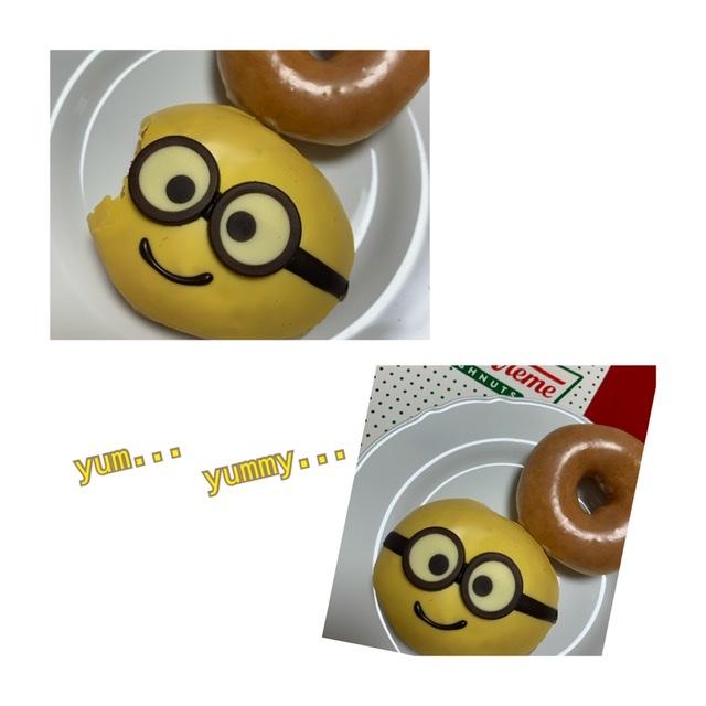 【可愛くて食べれない?!クリスピークリームドーナツのミニオンドーナツ!】_1